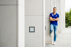 August 5, 2018 - Berlin, GERMANY - 180805 Karsten Warholm of Norway poses for a portrait during a press event ahead of the European Athletics Championships on August 5, 2018 in Berlin..Photo: Vegard Wivestad GrÂ¿tt / BILDBYRN / kod VG / 170191 (Credit Image: © Vegard Wivestad Gr¯Tt/Bildbyran via ZUMA Press)