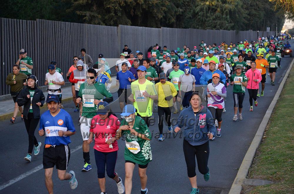 Metepec, México.- Con gran participación se realizo el Primer Gran Maratón de Metepec, en donde personas de todas las edades corrieron en las diversas categorías, imponiendose en los primeros lugares competidores de origen Keniano. Agencia MVT / Crisanta Espinosa