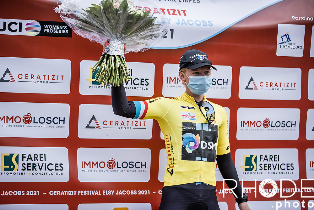 yellow jersey, Lorena Wiebes (NED/DSM), leader GC <br /> <br /> Ceratizit Festival Elsy Jacobs (LUX) 2021<br /> UCI Women Elite 2.1<br /> Day 1 - prologue : Individual Time Trial (ITT) – Cessange (LUX) 2.2km <br /> <br /> ©RhodePhoto