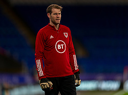 CARDIFF, WALES - Wednesday, November 18, 2020: Wales' goalkeeper Owain Fon Williams during the pre-match warm-up before the UEFA Nations League Group Stage League B Group 4 match between Wales and Finland at the Cardiff City Stadium. Wales won 3-1 and finished top of Group 4, winning promotion to League A. (Pic by David Rawcliffe/Propaganda)