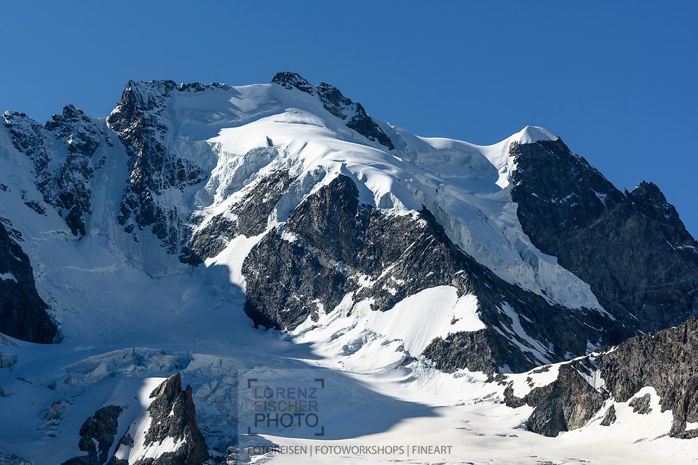Die Nordflanke des Piz Scerscen, Val Roseg, Pontresina, Graubünden, Schweiz<br /> <br /> The northern flank of Piz Scerscen, Val Roseg, Pontresina, Graubünden, Switzerland