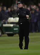 19/10/2003 - Photo  Peter Spurrier.2003 HSBC World Match Play Championship - Wentworth.Sunday - Final Day- Ernie Els v Thomas Bjorn:.Thomas Bjorn, checks the flight of his drive......[Mandatory Credit Peter Spurrier/ Intersport Images]