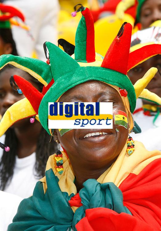 Photo: Steve Bond/Richard Lane Photography.<br />Ghana v Guinea. Africa Cup of Nations. 20/01/2008. Ghana fan