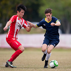 BRISBANE, AUSTRALIA - AUGUST 6:  during the NPL Queensland Under 20 Mens Round 20 match between Olympic FC and Gold Coast City FC at Goodwin Park on August 6, 2017 in Brisbane, Australia. (Photo by Patrick Kearney/Olympic FC)
