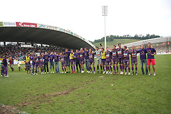 Team of Maribor celebrate at last football match of PrvaLiga Telekom Slovenije between NK Maribor and NK Interblock, when Maribor became a Slovenian National Champion, on May 23, 2009, in Ljudski vrt, Maribor. (Photo by Marjan Kelner/Sportida)