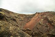 Volcano crater seen on Ruta de Los Volcanes, Parque Nacional de Timanfaya, national park, Lanzarote, Canary Islands,