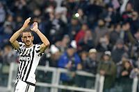 Esultanza finale Leonardo Bonucci Juventus,<br /> Torino 06-01-2016, Juventus Stadium, Football Calcio 2015/2016 Serie A, Juventus - Verona, Foto Filippo Alfero/Insidefoto