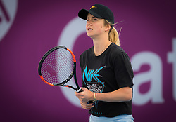 February 12, 2019 - Doha, QATAR - Elina Svitolina of the Ukraine practices at the 2019 Qatar Total Open WTA Premier tennis tournament (Credit Image: © AFP7 via ZUMA Wire)