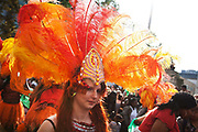 Hackney carnival 2014. The procession started in Ridley Road and passed by the The Hackney Town Hall with thousands of spectators lining the road.