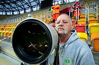 Bialystok, 14.06.2020. N/z Wlodzimierz Sierakowski fotoreporter sportowy przy pracy fot Michal Kosc / AGENCJA WSCHOD