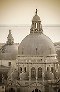 The domes of Santa Maria della Salute church, Venice, Veneto, Italy