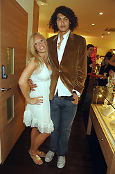 ANNABELLE RITCHIE and STEVIE THOMAS who is currently in Channel 4's Shipwrecked show at the launch party for the Mappin & Webb Regents Street branch at 132 Regent Street, London on 19th June 2007.<br /><br />NON EXCLUSIVE - WORLD RIGHTS