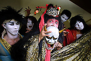 Members of the cast of Japanese Company East whose dance theatre production 'Medea' plays at The Garage. The play ran as part of the Edinburgh Festival Fringe.