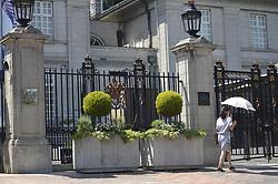 May 23, 2017 - Tokyo, Japan - A japanese lady passes near the British Embassy in Tokyo Japan. May 23, 2017. Photo by: Ramiro Agustin Vargas Tabares (Credit Image: © Ramiro Agustin Vargas Tabares via ZUMA Wire)