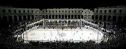 14.09.2012, Amphitheater, Pula, CRO, EBEL, Ice Fever, KHL Medvescak Zagreb vs HDD Olimpija Ljubljana, 03. Runde, im Bild Uebersicht der Esiflaeche mit dem Amphitheater Pula // during the Erste Bank Icehockey League 03rd Round match betweeen KHL Medvescak Zagreb and HDD Olimpija Ljubljana at the Amphitheater, Pula, Croatia on 2012/09/14. EXPA Pictures © 2012, PhotoCredit: EXPA/ Pixsell/ Igor Kralj ***** ATTENTION - OUT OF CRO, SRB, MAZ, BIH and POL *****