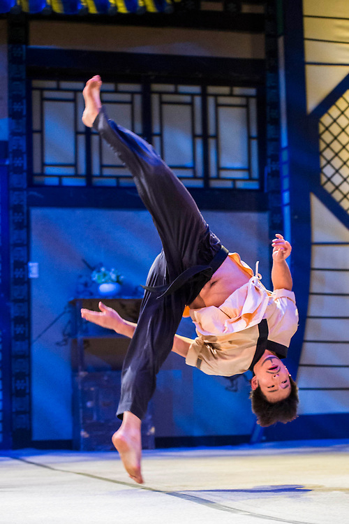 Jump at the Peacock Theatre, Holborn, London -  a gravity-defying show that combines comedy, martial arts and 'jaw-dropping' acrobatics. Jump tells the story of a pair of hapless burglars, who get more than they bargained for when they break into the home of a very unusual family, complete with karate-chopping mother and Tae-kwon-do expert grandfather.  One of Korea's biggest-selling shows, Jump now has its very own permanent theatre in Seoul and has toured throughout Europe, Asia and America, having been seen by over 3.5 million of people worldwide in 60 cities of 27 countries. It runs from 28 Oct - 15 Nov.