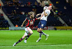 Alan Browne of Preston North End controls the ball under pressure - Mandatory byline: Matt McNulty/JMP - 07966386802 - 22/09/2015 - FOOTBALL - Deepdale Stadium -Preston,England - Preston North End v Bournemouth - Capital One Cup - Third Round