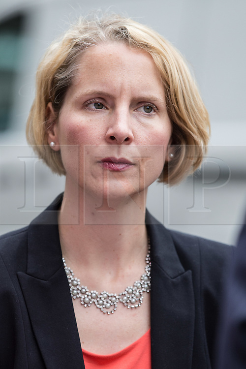 © Licensed to London News Pictures. 20/07/2015. London, UK. Emma Reynolds, Labour MP for Wolverhampton North East at Roupell Park Estate in Brixton to talk about renewable energy with Labour Leadership candidate Liz Kendall. Photo credit : James Gourley/LNP