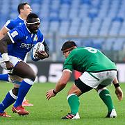 Roma 27/02/2021, Stadio Olimpico<br /> Guinness Six Nations 2021<br /> Italia vs Irlanda <br /> <br /> Cherif Traore' e CJ Stander