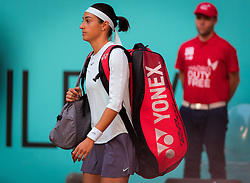 May 4, 2019 - Madrid, MADRID, SPAIN - Caroline Garcia of France in action during her first-round match at the 2019 Mutua Madrid Open WTA Premier Mandatory tennis tournament (Credit Image: © AFP7 via ZUMA Wire)