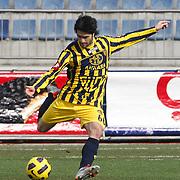 Ankaragucu's Adem KOCAK during their Turkish superleague soccer match Kasimpasa between Ankaragucu at the Recep Tayyip Erdogan stadium in Istanbul Turkey on Saturday 19 February 2011. Photo by TURKPIX