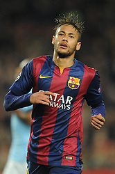 Barcelona's Neymar reacts after Joe Hart saves his shot - Photo mandatory by-line: Dougie Allward/JMP - Mobile: 07966 386802 - 18/03/2015 - SPORT - Football - Barcelona - Nou Camp - Barcelona v Manchester City - UEFA Champions League - Round 16 - Second Leg