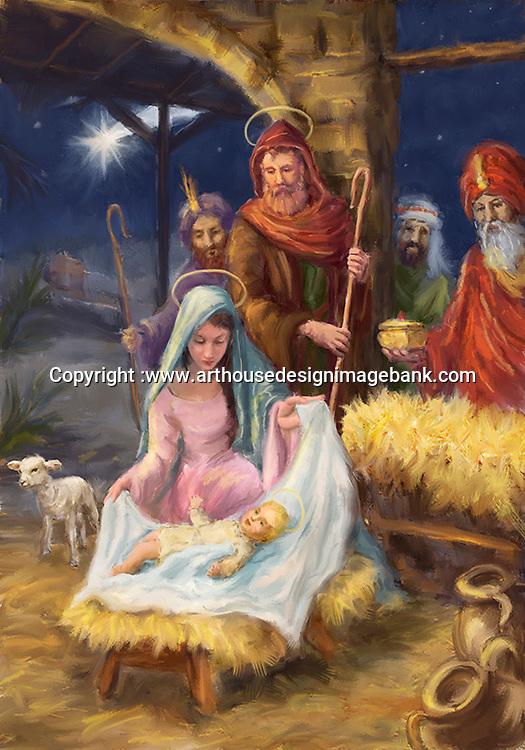 Marcello Corti nativity art