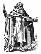 Knight of Malta also called Knight Hospitaller. Member of the Order of St John of Jerusalem founded end 11th century, dedicated to fighting the  'infidel' and treating sick and wounded.   When their headquarters in Rhodes  was conquered Muslim forces, they were granted an alternative base on the Mediterranean island of Malta.  Woodcut by Jost Amman, 16th century.