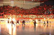 (SCRJ) gegen (ZSC) im Spiel der National League zwischen den SC Rapperswil-Jona Lakers und den ZSC Lions, am Samstag, 22. September 2018, in der St. Galler Kantonalbank Arena Rapperswil-Jona. (Thomas Oswald)