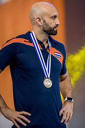 01-10-2017 AZE: Final CEV European Volleyball Nederland - Servie, Baku<br /> Nederland verliest opnieuw de finale op een EK. Servië was met 3-1 te sterk / Coach Jamie Morrison