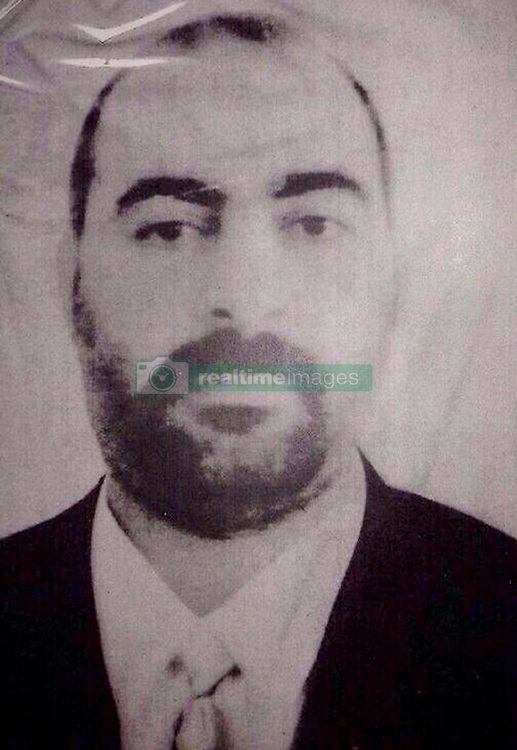 Exclusive - Abu Bakr al-Baghdadi wearing with costume --- Sofia Amara followed the footsteps of the mightiest terrorist in the world. In his childhood city, in the prison where he has been educated politically, or in the capital of the Islamic State, Mosul, about to be taken over by the Iraqi army. She collected exceptional testimonies from his relatives: his childhood friends, his 'brothers-in-arms' of jihad, or his ex-wife Saja, mother of one of his daughters, now 9 years old. She also had the right to film the Falcon Brigade, the elite intelligence unit in Iraq which hunts Abu Bakr al-Baghdadi. Finally, she collected exclusive documents as unseen photos of the leader of ISIS. Photo by N0VAPROD/ABACAPRESS.COM