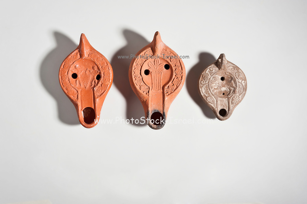 North African terracotta oil lamps 4-5 century CE