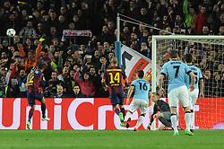 Manchester City's Sergio Aguero has his penalty saved by Barcelona's Marc-Andre ter Stegen - Photo mandatory by-line: Dougie Allward/JMP - Mobile: 07966 386802 - 18/03/2015 - SPORT - Football - Barcelona - Nou Camp - Barcelona v Manchester City - UEFA Champions League - Round 16 - Second Leg