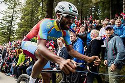 September 20, 2017 - Bergen, NORWAY - 170920 Meron Teshome of Eritrea competes during the Men Elite Individual Time Trial on September 20, 2017 in Bergen..Photo: Vegard Wivestad GrÂ¿tt / BILDBYRN / kod VG / 170018 (Credit Image: © Vegard Wivestad Gr¯Tt/Bildbyran via ZUMA Wire)