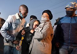 South Africa - Johannesburg - 10 June 2020 - Friends and family members attended the memorial service in Soweto of the late Tshegofatso Pule whose stabbed body was found hanging from a tree this week, Pule was eight month pregnant. Soweto.Picture: Itumeleng English/African News Agency(ANA)