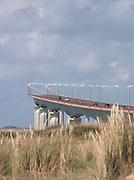 The bridge connecting Île de Ré to the mainland at La Rochelle, France