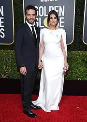 77th Golden Globe Awards - Arrivals. 05 Jan 2020 Pictured: Idina Menzel and Aaron Lohr. Photo credit: OConnor-Arroyo/AFF-USA.com / MEGA TheMegaAgency.com +1 888 505 6342