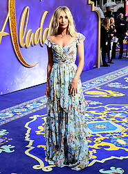 Megan McKenna attending the Aladdin European Premiere held at the Odeon Luxe Leicester Square, London.