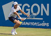 Tennis - 2017 Aegon Championships [Queen's Club Championship] - Day Three, Wednesday<br /> <br /> Men's Singles, Round of 16 - Grigor Dimitrov (BUL) vs Julien Benneteau (FRA)<br /> <br /> Julien Benneteau (FRA) with a back hand return at Queens Club<br /> <br /> COLORSPORT/DANIEL BEARHAM