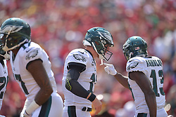 The Philadelphia Eagles defeated the Washington Redskins 30-17 on September 10, 2017 in Landover, Maryland.  (Photo by Drew Hallowell/Philadelphia Eagles)