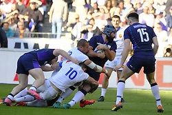 February 23, 2019 - Saint Denis, Seine Saint Denis, France - The number height of Scotland team JOSH STRAUSS in action during the Guinness Six Nations Rugby tournament between France and Scotland at the Stade de France - St Denis - France..France won 27-10 (Credit Image: © Pierre Stevenin/ZUMA Wire)