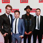 NLD/Amsterdam/20130911 - Lancering Netflix in Nederland, Manuel Broekman, Geza Weisz, Nathan en Dio, Diorno Braaf