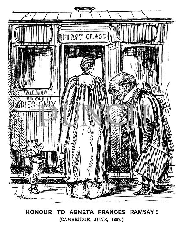 Honour to Agneta Frances Ramsey! (Cambridge, June, 1887.)
