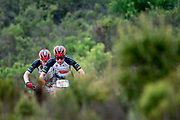 Annika LANGVAD (DNK) and Anna VAN DER BREGGEN (NLD) of team Investec-songo-Specialized during the Prologue of the 2019 Absa Cape Epic Mountain Bike stage race held at the University of Cape Town in Cape Town, South Africa on the 17th March 2019.<br /> <br /> Photo by Greg Beadle/Cape Epic<br /> <br /> PLEASE ENSURE THE APPROPRIATE CREDIT IS GIVEN TO THE PHOTOGRAPHER AND ABSA CAPE EPIC