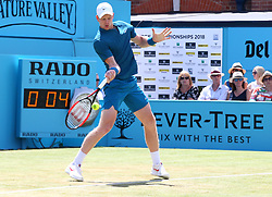 June 21, 2018 - London, United Kingdom - Kyle Edmund  in action .during Fever-Tree Championships 2nd Round match between Nick Kyrgios (AUS) against Kyle Edmund  at The Queen's Club, London, on 21 June 2018  (Credit Image: © Kieran Galvin/NurPhoto via ZUMA Press)