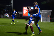 Chris Long of Northampton Town (l) in action. EFL Skybet Football League one match, Northampton Town v Portsmouth at the Sixfields Stadium in Northampton on Tuesday 12th September 2017. <br /> pic by Bradley Collyer, Andrew Orchard sports photography.