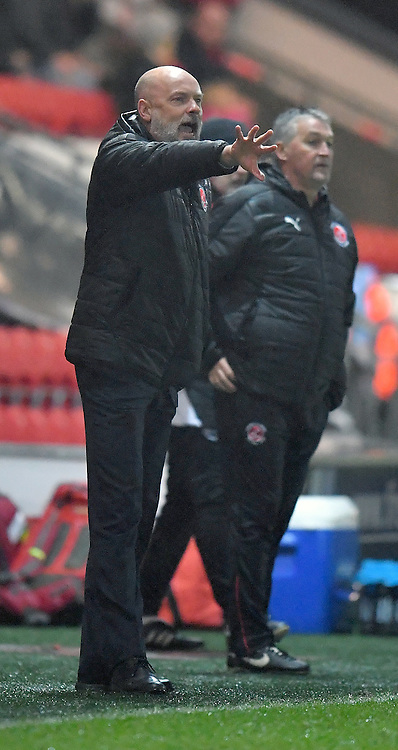 Fleetwood Town's Manager Uwe Rosler shouts instructions to his team<br /> <br /> Photographer Dave Howarth/CameraSport<br /> <br /> Emirates FA Cup Third Round Replay - Fleetwood Town v Bristol City - Tuesday 17th January 2017 - Highbury Stadium - Fleetwood<br />  <br /> World Copyright © 2017 CameraSport. All rights reserved. 43 Linden Ave. Countesthorpe. Leicester. England. LE8 5PG - Tel: +44 (0) 116 277 4147 - admin@camerasport.com - www.camerasport.com
