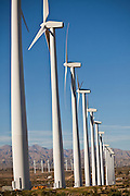 Wind turbines at the San Gorgonio Pass Wind Farm outside Palm Springs, CA.