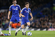 Oscar of Chelsea in action. UEFA Champions league group G match, Chelsea v Porto at Stamford Bridge in London on Wednesday 9th December 2015.<br /> pic by John Patrick Fletcher, Andrew Orchard sports photography.