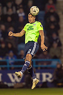 Cardiff City defender Lee Peltier (2) during the The FA Cup 3rd round match between Gillingham and Cardiff City at the MEMS Priestfield Stadium, Gillingham, England on 5 January 2019. Photo by Martin Cole.